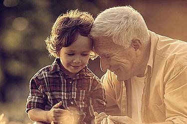 Großvater und Enkel glücklich - Vermögensübergang bei Baron Investment